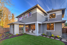Large Modern Grey New House Wi...
