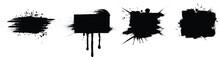 Black Vector Splashes With Fra...