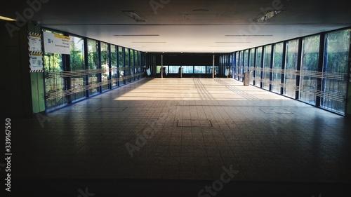 Photo Interior Of Empty Footbridge