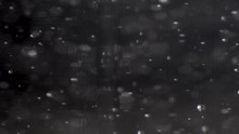 Slow Movement Of Bright Silver Bubbles And Particles Rising Up In Dark Liquid, MACRO.