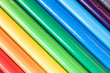 canvas print picture - assorted colored pencils used for drawing and coloring on a white background