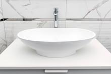 Modern White Bathroom Sink Bas...