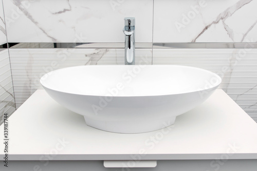 Cuadros en Lienzo Modern white bathroom sink basin
