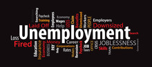 Unemployment Word Cloud On A B...