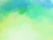 green and yellow color water brush wallpaper
