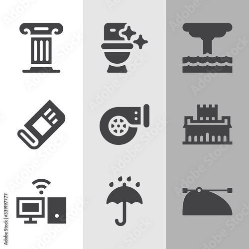 Simple collection of annals related filled icons Canvas Print