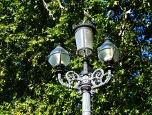 Low Angle View Of Lamp Post Ag...