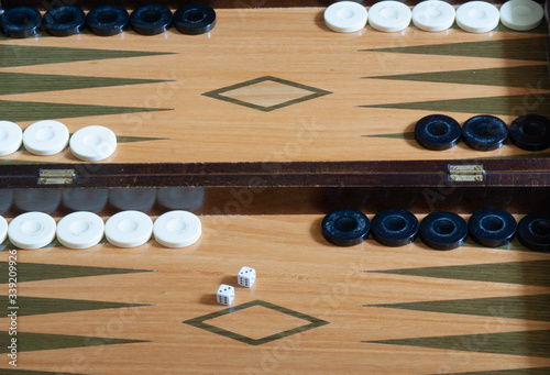 backgammon board setup for new game Canvas Print
