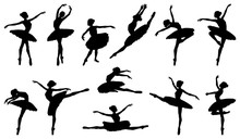 Ballerina Dancer Silhouette Ba...