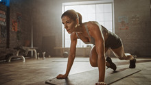 Strong And Fit Athletic Woman ...