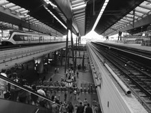 People In Lodz Kaliska Railway Station
