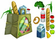 Package paper drawing, vector, ecology