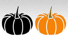 Pumpkins Vector Flat Icon On T...