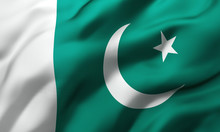 Flag Of Pakistan Blowing In Th...