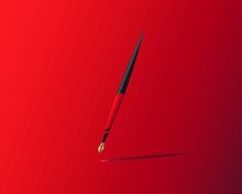 Fountain Pen In Red And Black ...
