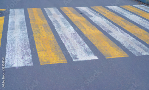 Fotografie, Obraz Pedestrian crossing on the road with cars