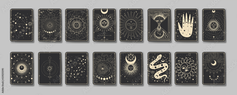 Fototapeta the sun and moon, the beauty of the eastern night. traditional folk spiritual elements. space objects. Vector graphics