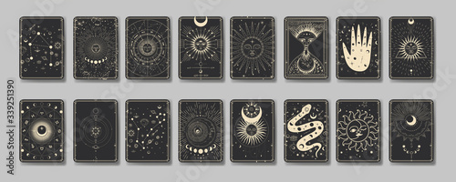 Obraz the sun and moon, the beauty of the eastern night. traditional folk spiritual elements. space objects. Vector graphics - fototapety do salonu