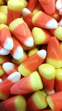 Close-up Of Heap Of Candy Corn