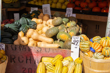 Squash For Sale In A Market
