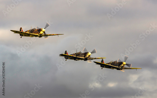 Fotografie, Tablou Three Spitfires