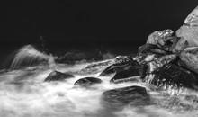Waves Crashing On Rocks At Shore