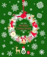 Christmas Craft Cut Out Wreath...
