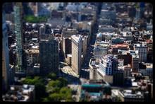 Tilt-shift Image Of City