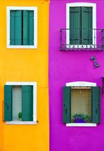Colorful Window, Burano Island...