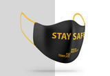 Angled View Face Protection Mask Mockup - 339289300
