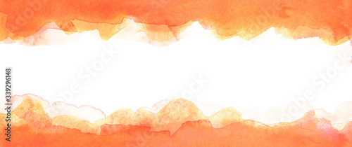 Fotomural Red watercolor background with a white stripe in the middle
