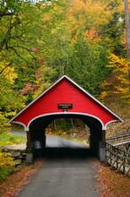 A Quaint Covered Bridge Crosse...