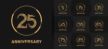 Anniversary Logotype Set With ...