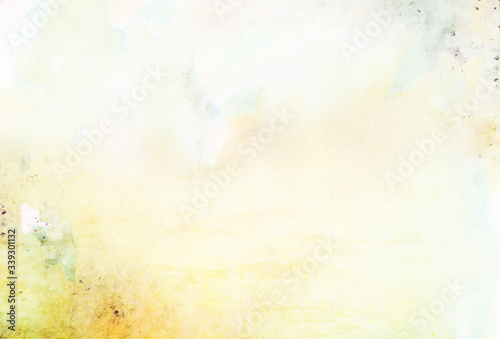 Fototapeta Creative watercolor paper background with place for text. Abstract colorful watercolour paper texture obraz