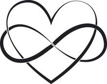 Elegant, Heart, Symbol, Vector Illustration