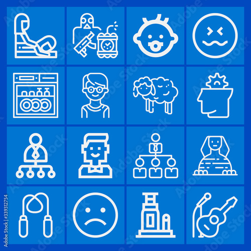 Photo 16 pack of apartheid  outline web icons set