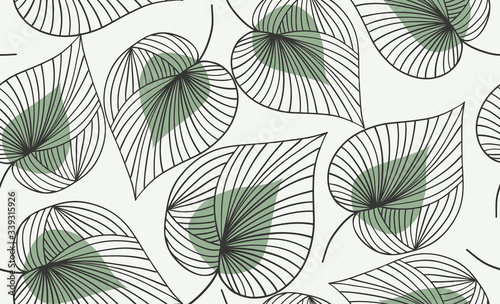 Obraz Seamless floral pattern.  Vector hand draw floral background - fototapety do salonu