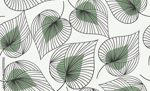 Fototapeta Seamless floral pattern.  Vector hand draw floral background obraz