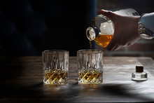 Man Pouring Whisky
