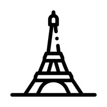 Eiffel Tower Icon Vector. Eiff...