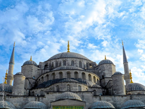 Canvas-taulu Low Angle View Of Hagia Sophia Against Sky