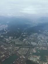 Aerial View Of Tsuen Wan Against Cloudy Sky
