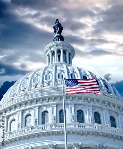 Capitol Building in Washington DC USA Canvas Print