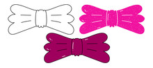 Bowties Vector Design. Black A...
