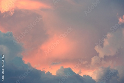 Fototapety, obrazy: Low Angle View Of Cloudy Sky At Sunset