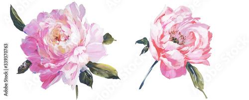 Obraz  Hand painted flowers - fototapety do salonu