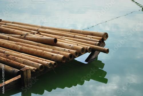 Fotomural High Angle View Of Bamboos On Lake