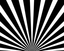 Abstract Radial Background With Background With Black And White Divergent Rays.