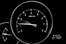 Car Dashboard Dials - Engine RPM (rotations Per Minute)