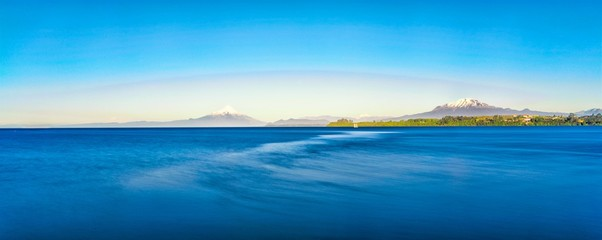 Panoramic Shot Of Sea Against Blue Sky